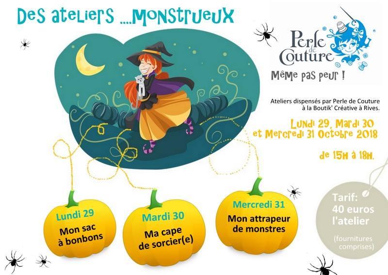 Monstrueux ateliers couture enfants Prele de Couture à la Boutik' Créative octobre 2018