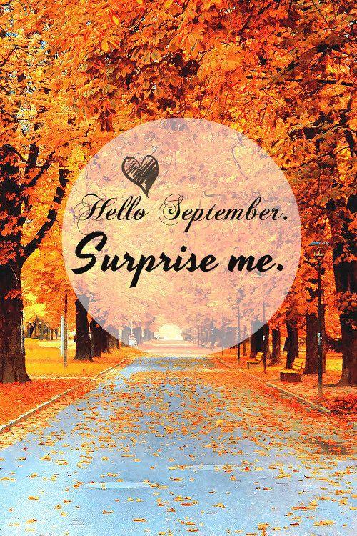 Hello septembre surprise me