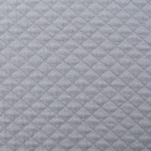 Jersey matelassé Perle de gris (x10cm)