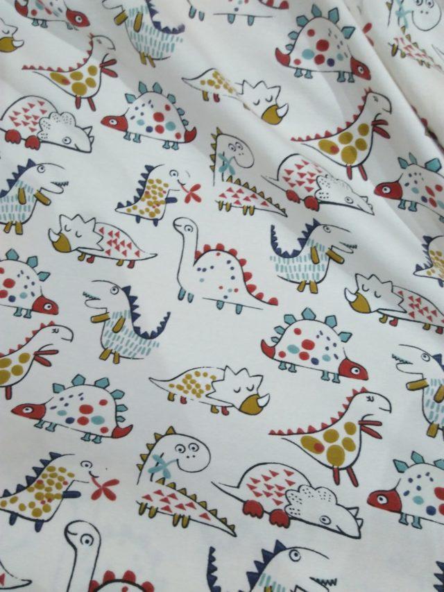 tissu jersey de coton les dinosaures