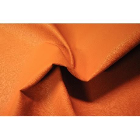 Tissu simili cuir irisé orange 2