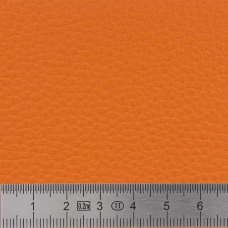 Tissu simili cuir irisé orange 3