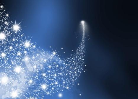 des étoiles dans le ciel de la Boutik Créative de Rives