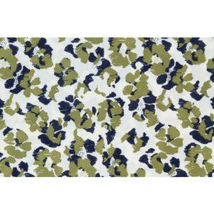 Tissu coton empreinte Kaki et marine (x10cm)