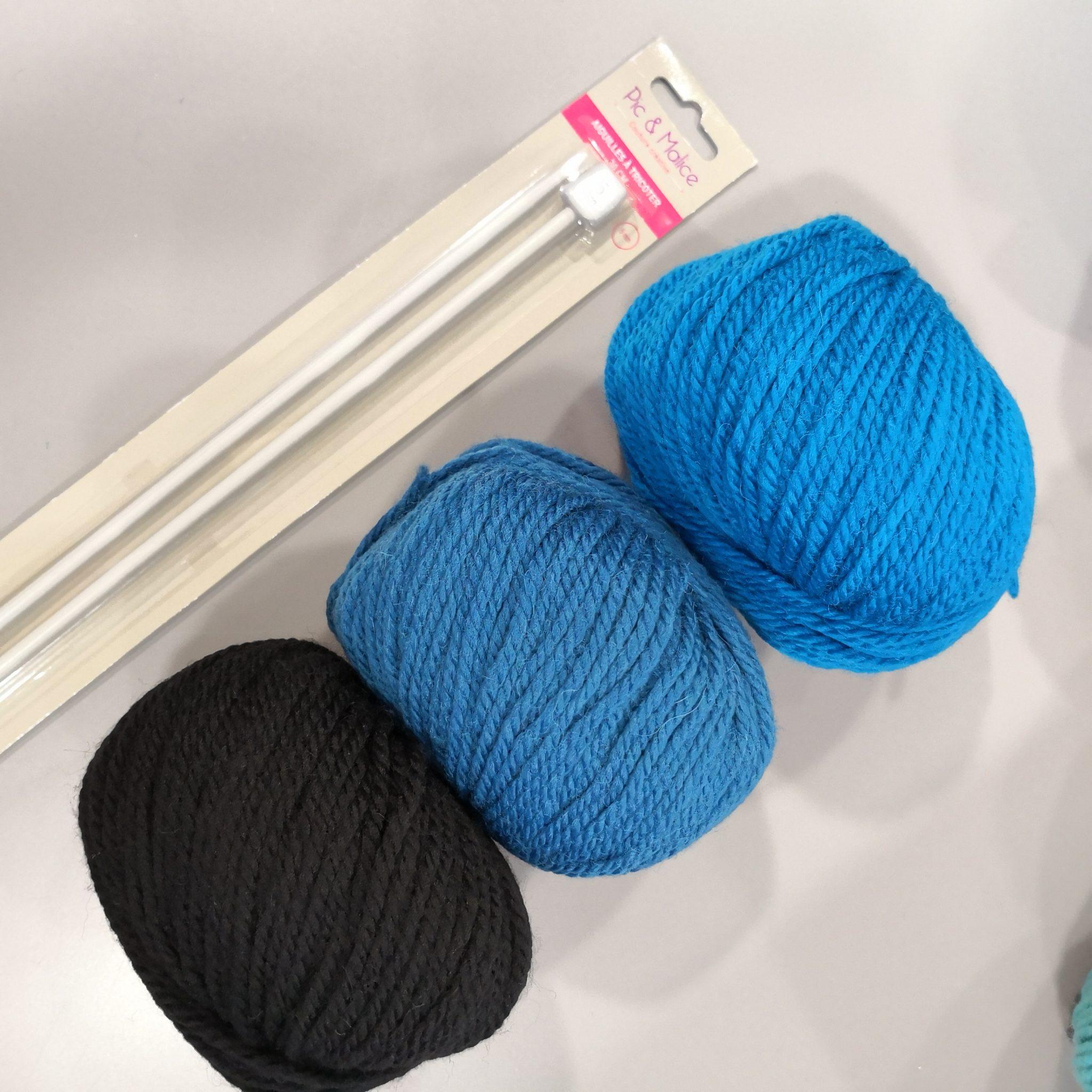 Laine Fonty N°5 et aiguilles à tricoter