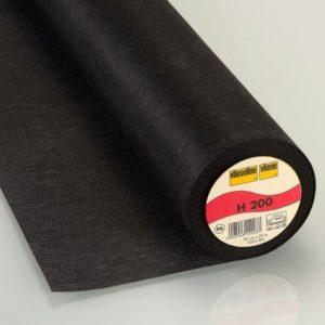 Entoilage léger thermo 90cm noir H200 (x10cm)