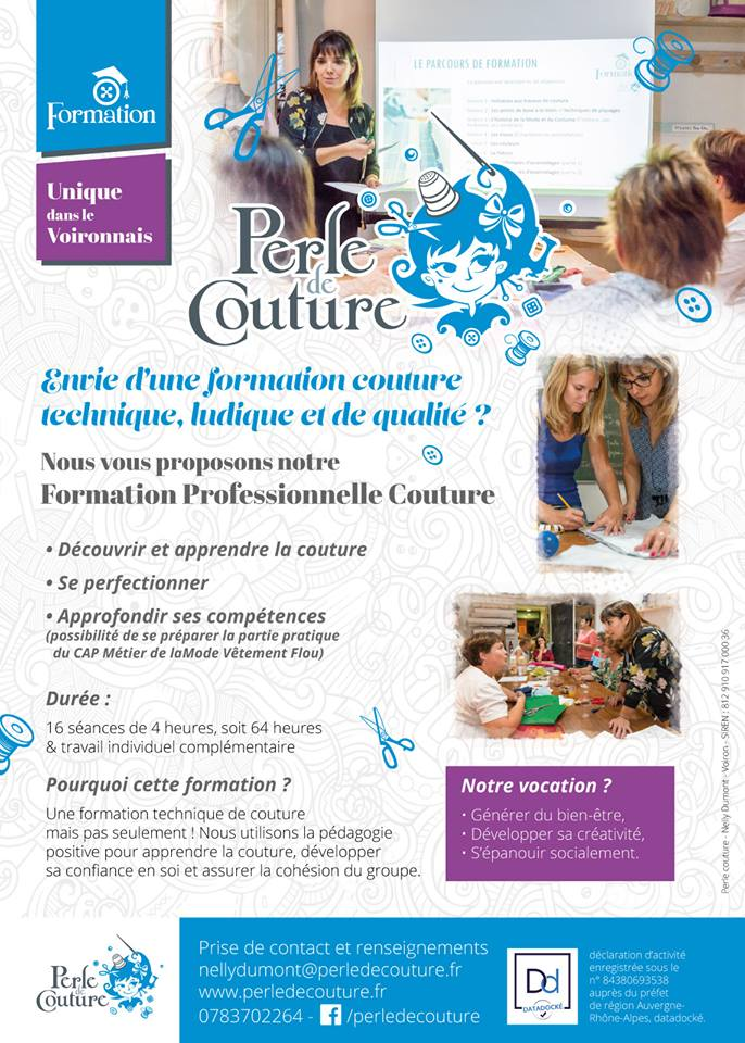 FORMATION PROFESSIONNELLE COUTURE 2019