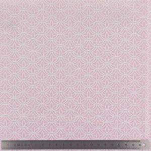 Popeline de coton rose imprimée (x10cm)