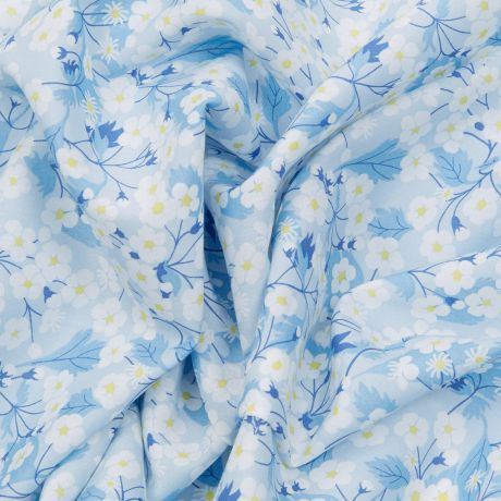 Tissu Liberty mitsi col blue angel Édition 40 ans 2
