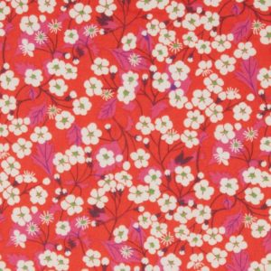 Tissu Liberty Mitsi poppy red  (x 10cm)