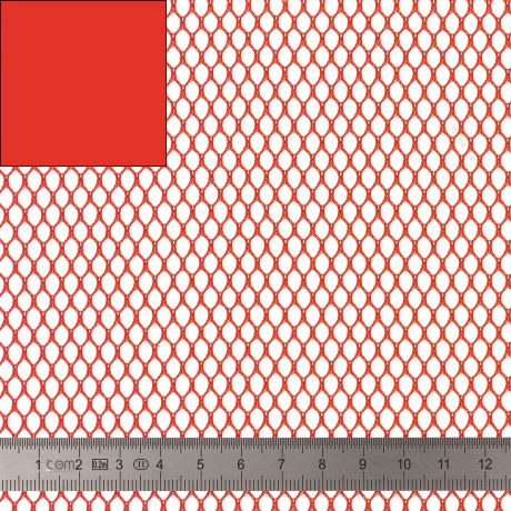 Tissu filet Mesh fabric rouge 40 SUP209 ROUGE