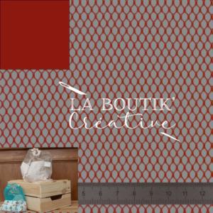 Tissu filet rouge (x 20cm)