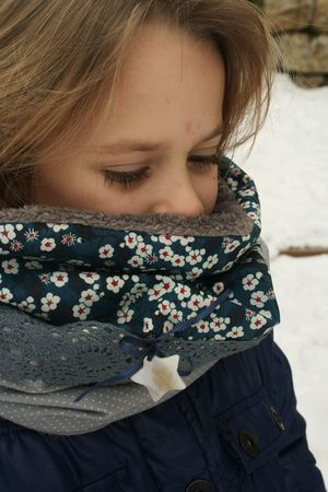 snood liberty mitsi bleu