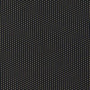 Tissu coton navy  pois or