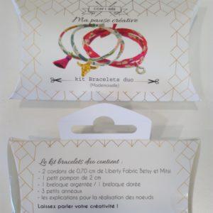 Kit créatif bracelets duo liberty Betsy et Mitsi