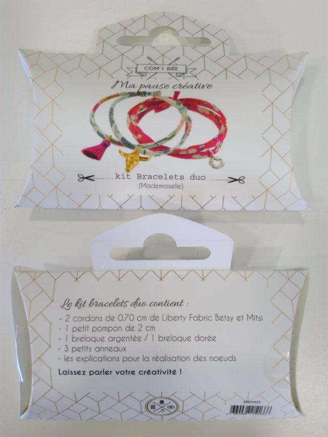 Kit bracelets duo cordon Liberty Betsy et Mitsi