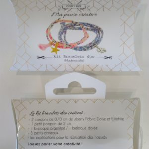 Kit créatif bracelets duo liberty Eloise et Whitshire