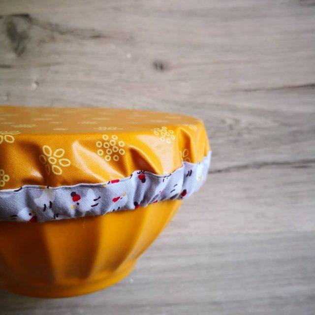 Kit couvercle tissu enduit moutarde 1