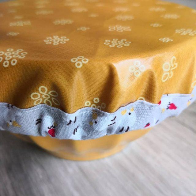 Kit couvercle tissu enduit moutarde 2