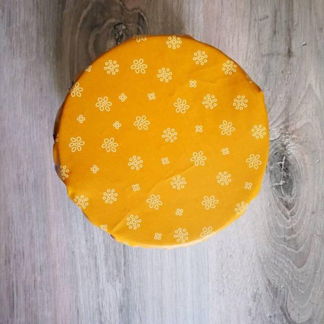 Kit couvercle tissu enduit moutarde 3