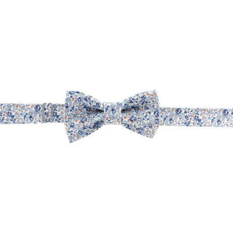 Kit noeud papillon en tissu Liberty bleu pâle 2
