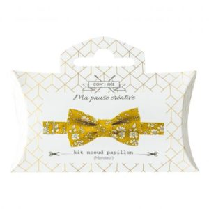 Kit noeud papillon en tissu Liberty moutarde