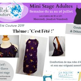 Les ateliers couture de l'été