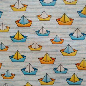 Tissu coton les bateaux ( x 10cm)