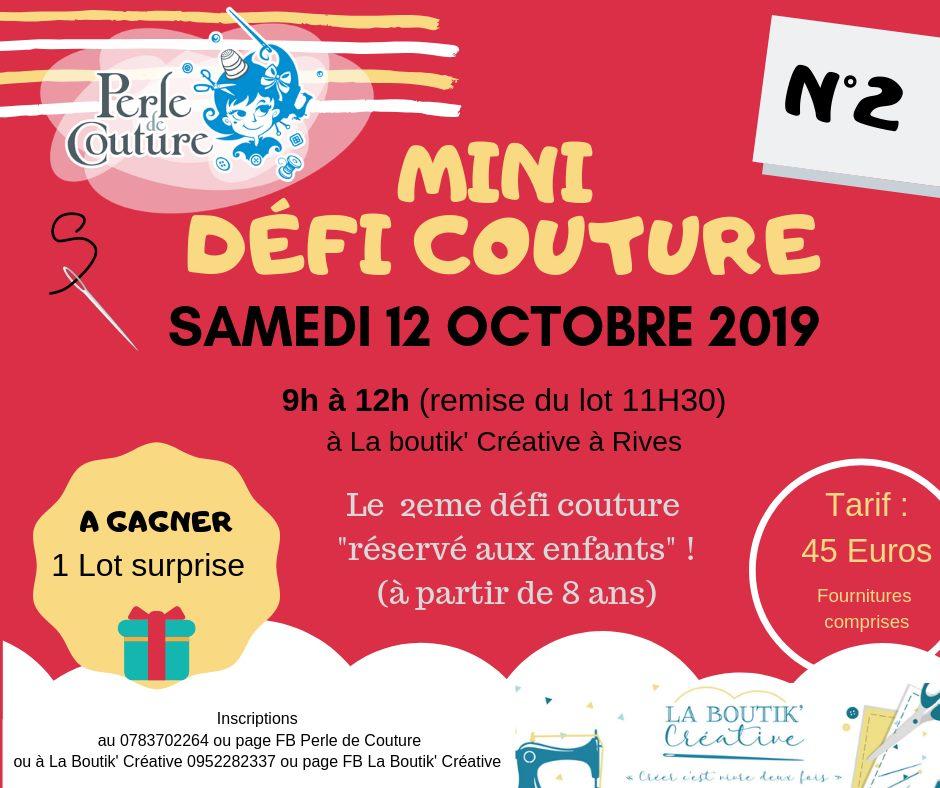 Mini Défi couture N°2 La Boutik Creative