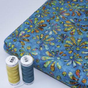 tissu batik feu d'artifice (x10cm)