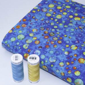 tissu batik les comètes  (x10cm)