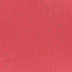 Tissu double gaze coquelicot fleur or (x10cm)