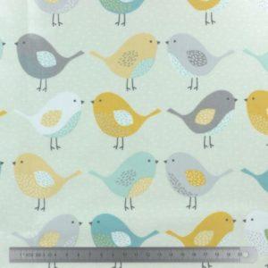 Tissu enduit Fryett's Les inséparables (x10cm)