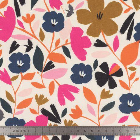 Tissu viscose Dashwood Chmps de fleurs 3