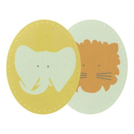 Coude thermocollant enfant éléphant lion