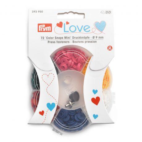 Prym love boutons pression color snaps mini boîte
