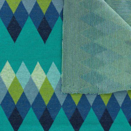 Tissu ALB Stoffe Bliss Jacquard Peak turquoise 3