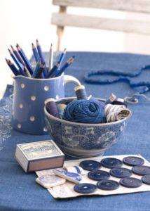 thé couture bleue