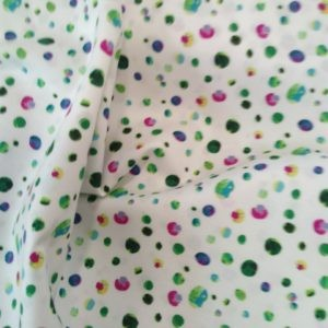 Tissu Confettis Multicolores