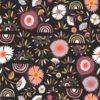 Fleurs d'hiver tissu viscose