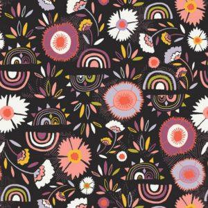 Tissu viscose Fleurs d'hiver