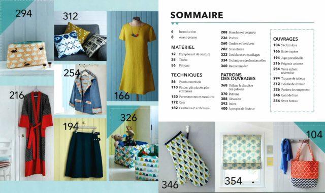 La nouvelle Encyclopédie de la Couture sommaire