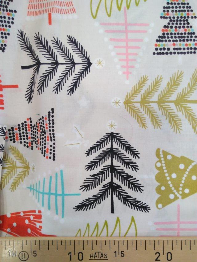 Tissu coton Noël rustique details