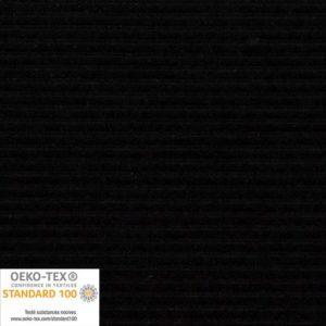Tissu velours côtelé stretch col Noir