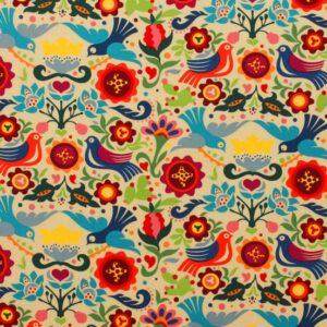 Tissu enduit «la paloma» Alexander Henry Fabric (x10cm)