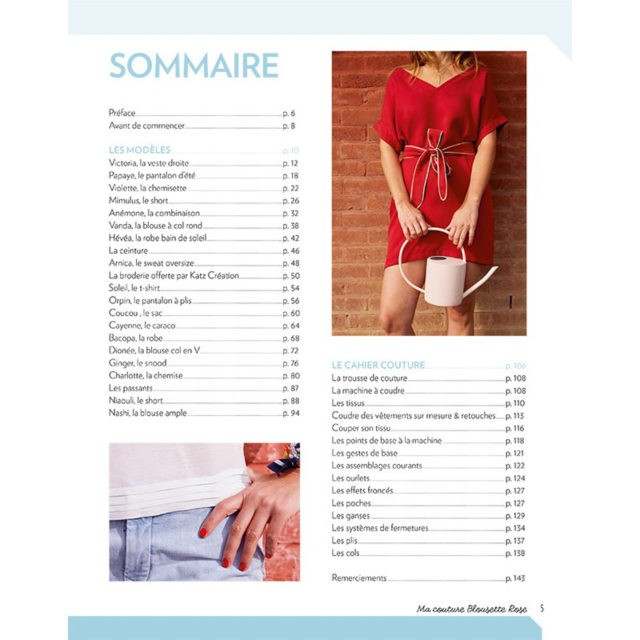Ma couture blousette Rose sommaire