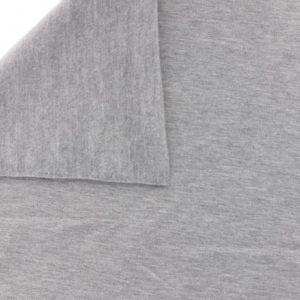 Tissu sweat coton gris clair chiné
