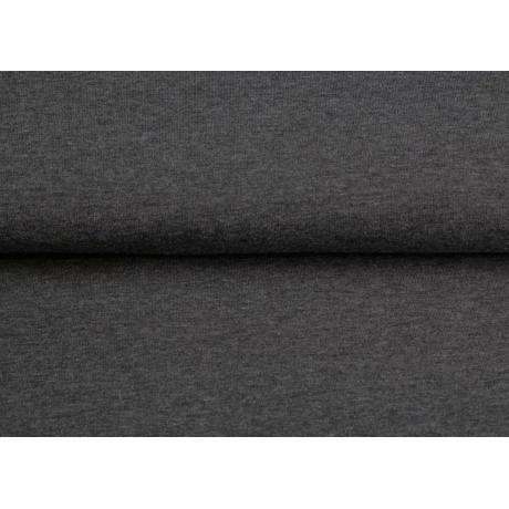Tissu Stenzo sweat coton gris foncé chiné 160cm 2