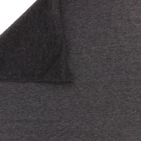 Tissu Stenzo sweat coton gris foncé chiné 160cm
