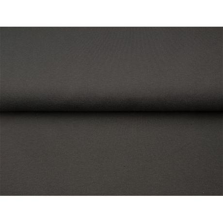 Tissu Stenzo sweat coton uni noir 160cm